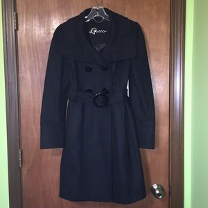 Guess black coat size M wool 60%